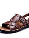 Bărbați Pantofi Piele Primăvară Vară Confortabili pentru Casual În aer liber Negru Portocaliu Maro