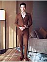 Bărbați Rever Clasic Regular Costume Casul/Zilnic Simplu, Mată Iarnă Poliester