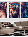 Valsade kanfastryck Klassisk, Tre paneler Duk Vertikal panoramautsikt Tryck väggdekor Hem-dekoration