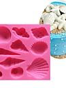 جميل البحر شل والمحار شكل سيليكون 3d قالب طهي الطعام بار غير عصا تزيين الكعكة فندان قالب الصابون