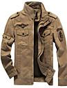 Bărbați Stand Jachetă Militar - Mată Bumbac