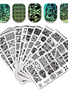10/20 stämpling Plate Nail Stamping Mall Nail Art Design Nagellack Spets