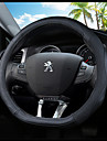 Steering Wheel Covers Genuine Leather 38cm Blue / Black / Black / Red For Peugeot 308 2012 / 2013 / 2014