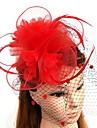 Pluma / Red Fascinators / Flores / Sombreros con Plumas / Piel / Flor 1pc Boda / Ocasion especial Celada
