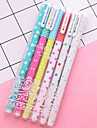 gel Pen Stilou Pixuri cu Gel Stilou,Plastice Multicolor Culori de cerneală For Rechizite școlare Papetărie Pachet de 6