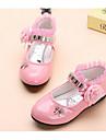 Fete Pantofi Imitație de Piele Primăvară Toamnă Pantofi Moi Confortabili Pantofi Flați pentru Casual Alb Negru Fucsia Roz