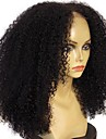 Ljudska kosa Netretirana  ljudske kose Perika s prednjom čipkom bez ljepila Lace Front Perika Srednji dio stil Mongolska kosa Kovrčav Afro Kinky Perika 130% Gustoća kose s dječjom kosom Prirodna
