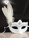Klassisk Masquerade Mask Svart Gul Vit Plastik Cosplay-tillbehör Maskerad