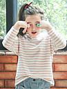 Fete Tricou Dungi Bumbac Toate Sezoanele Mânecă Lungă Vintage Roz Îmbujorat Bleumarin