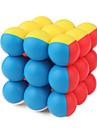 Rubiks kub Alien 3*3*3 Mjuk hastighetskub Magiska kuber Pusselkub Genomskinligt klistermärke Konkurrens Fyrkantig Present Flickor Pojkar