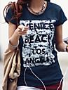 Pentru femei Tricou De Bază-Bloc Culoare Imprimeu