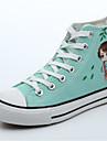 Pentru femei Pantofi Pânză Vară Confortabili Adidași Toc Drept Vârf Închis Cizme / Cizme la Gleznă Negru / Mov / Verde