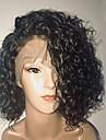 Äkta hår Hel-spets Peruk Brasilianskt hår Lockigt Vattenvågor Kort Bob Bob-frisyr 130% Densitet Med Babyhår limfria Sidodel Naturlig