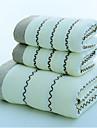 Qualite superieure Serviette de bain, Mot / Phrase Polyester / Coton Salle de  Bain 3 pcs