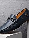 Erkek Ayakkabı Domuz Derisi Bahar / Sonbahar Mokasen & Bağcıksız Ayakkabılar Yürüyüş Günlük için Püsküllü Siyah / Turuncu / Koyu Mavi