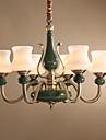 Antichizat Artistic Stil Minimalist Candelabre Iluminare verticală Pentru Sufragerie 110-120V 220-240V 1500lm Bec Inclus