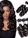 Cheveux Bresiliens Ondulation Lache Tissages de cheveux humains 3 offres groupees 8-28pouce Tissages de cheveux humains Noir Naturel