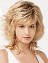 Syntetiska peruker Vågigt Med lugg Densitet Utan lock Blond Celebrity Wig 13 cm Syntetiskt hår