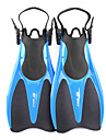 WHALE Dykkerfinner Svømmefinner Korte svømmefødder Justérbar strop Svømning Dykning Snorkling Gummi - til Voksen Gul Rød Blå