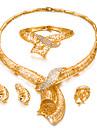 Pentru femei Set bijuterii - Placat Auriu Modă, Declarație Include Brățări Bangle / Cercei Stud / Coliere Choker Auriu Pentru Nuntă / Petrecere / Inel