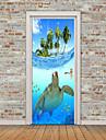 Animale Marin Perete Postituri Autocolante perete plane 3D Acțibilduri de Perete Autocolante de Perete Decorative Autocolante foto