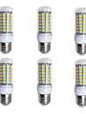 BRELONG® 6pcs 4W 400 lm E26/E27 Becuri LED Corn 69 led-uri SMD 5730 Alb Cald Alb 200-240V