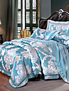 Bettbezug-Sets Blumen / Luxus Seide / Baumwolle Jacquard 4 StueckBedding Sets / >800