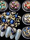5 pcs Glitter / kristall Metallpärlor / Nail Smycken Smyckes set / Accessoar / Dekorationer