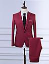 Bărbați Rever Clasic Zvelt Mărime Plus Size Blazer Vintage - Mată