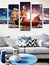 Impression sur Toile Moderne, Cinq Panneaux Toile Format Vertical Imprime Decoration murale Decoration d\'interieur