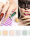 6 pcs Puder / Glitterpulver / Nail Glitter Glitter och glans Nail Art Design / Nail Art Tips