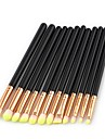 11pcs Eyeshadow Brush Synthetic Hair Eco-friendly Soft Full Coverage Wood Cosmetic Eco-friendly Soft Full Coverage