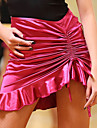 Latein-Tanz Unten Damen Leistung Polyester Eis-Seide Horizontal geruescht Normal Roecke