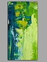 Peinture a l\'huile Hang-peint Peint a la main - Abstrait A fleurs / Botanique Contemporain Moderne Toile