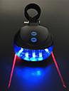 Laser LED Eclairage de Velo Eclairage de Velo Arriere Eclairage securite velo / Ecarteur de danger ECLAIRAGE ARRIERE Cyclisme Impermeable Portable Modes multiples 200 lm 2 Piles AAA Rouge Bleu / ABS