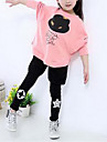 Fete Set Îmbrăcăminte Primăvară Toamnă Manșon Lung Desen animat Gri Roz