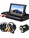 ziqiao 3 σε 1 ασύρματο κάμερα παρμπρίζ 4,3 ιντσών 170 μοιρών σύστημα παρακολούθησης βίντεο αναδιπλούμενο αναδιπλούμενο αυτοκίνητο με κάμερα πίσω κάμερας ασύρματο κιτ