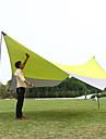 7 osob Kamp Çadırı Outdoor Větruvzdorné Prodyšnost Ochrana proti slunci S jednou vrstvou Tyč Camping Tent 1000-1500 mm pro Rybaření Plážové Piknik Terylen 500*500*240*