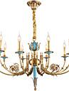 ZHISHU 10 lumieres Bougie Lustre Lumiere dirigee vers le haut - Cristal, Style mini, 110-120V / 220-240V Ampoule incluse / 20-30㎡