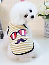 Honden Katten Huisdieren Gilet Hondenkleding Gestreept Cartoon Geel Blauw Roze Katoen / Polyester Kostuum Voor Dalmatier Beagle Mopshond Lente Zomer Man Japanse en Koreaanse stijl Casual / Dagelijks