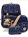 Pentru femei Genți Terilenă Seturi de sac Set de pungi 3 buc Urs Roșu-aprins / Albastru Închis / Mov