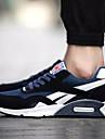 Erkek Ayakkabı PU Bahar Sonbahar Rahat tembel çizmeler Atletik Ayakkabılar Düz Taban Yuvarlak Uçlu Atletik Günlük için Bağcıklı Siyah