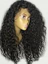 Remy-hår Peruk Brasilianskt hår Vågigt Frisyr i lager 130% Densitet Med Babyhår Till färgade kvinnor Svart Korta Lång Mellanlängd Dam