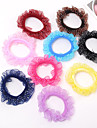 Lastik & Kravatlar Saç aksesuarları Bağlanmış Pamuk Bez Saten peruk Aksesuarları Kadın\'s 10pcs adet 1-4inç santimetre Günlük Butik Şık