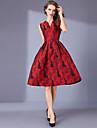 Pentru femei Vintage Șic Stradă Linie A Rochie Floral Lungime Genunchi