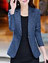 女性用 ワーク プラスサイズ ブレザー - ベーシック ストリートファッション ソリッド