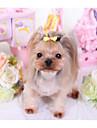 Câini Pisici Accesorii Păr Funde Îmbrăcăminte Câini Slogan Nod Papion Culoare aleatorie Terilenă Costume Pentru animale de companie Femeie