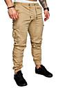بنطلون رجالي قطن قياس كبير بنطلونات / سراويل كارغو - فضفاض لون سادة أساسي / الربيع / الصيف