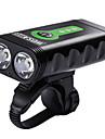 ضوء الدراجة الأمامي / مصابيح الدراجة - اضواء الدراجة ركوب الدراجة ضد الماء, محمول, قابل للتعديل بطارية ليثيوم 2400 lm أخضر - WOSAWE