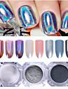 3 pcs Glitterpulver Mirror Effect / Nail Glitter Nail Art Design Genomskinligt klistermärke Bröllop / Fest